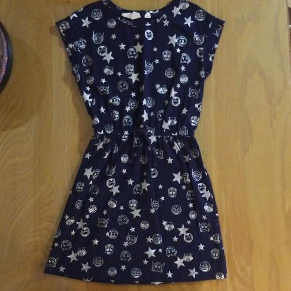GAP Kids Marvel Comic Navy Blue Cotton Dress - 10